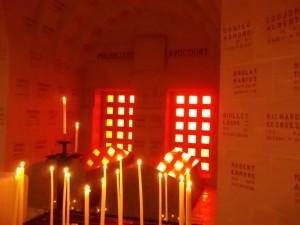 Inside Verdun ossuary
